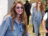 Gigi Hadid cuts a figure as she touches down in Milan in preparation for the upcoming fashion week
