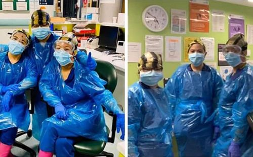 Exclusive: Three nurses forced to wear bin bags because of PPE shortage test positive for coronavirus