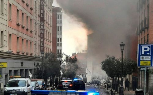 Two dead after explosion rips through building in Madrid