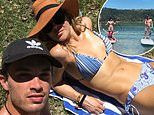 Jessica Marais is the picture of happiness as she bonds with daughter Scout and boyfriend Jake Holly