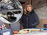 Mother is living without a kitchen after she was forced after tumble dryer exploded