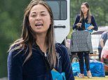 Strictly's Katya Jones goes make-up free as she slips into a velvet tracksuit at a car boot sale