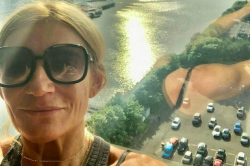 Ex Eastenders actress Michelle Collins arrives in Scotland for filming