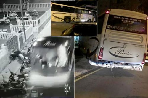 Brit arrested after 'two-mile wrecking spree' with 'stolen coach' in Benidorm