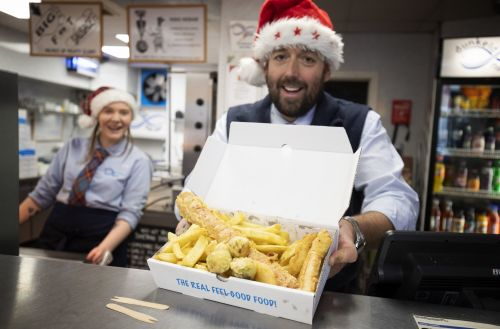 Chip shop batters entire Christmas dinner and puts it on sale