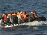 GMB reporter Jonathan Swain pursues ten migrants as they cross Channel