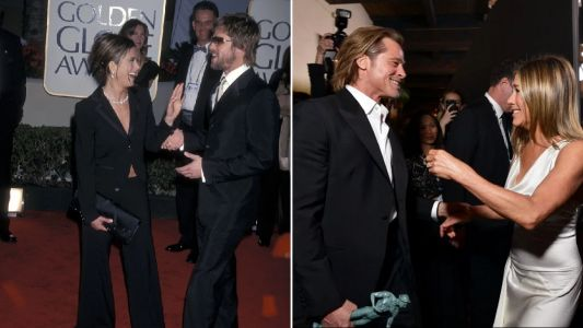Brad Pitt and Jen's 18-year awards ceremony throwback is giving us all the feels as they reunite at SAGs