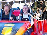 Ireland Baldwin puts on united front with her dad Alec at Disneyland