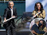 Barack and Michelle break ground at former president's controversial Obama Presidential Center