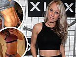 Chloe Madeley displays her washboard abs in a before and after snap