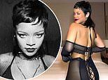 Rihanna rocks a mullet and dances in sheer lingerie for Savage x Fenty's Valentine's Day line