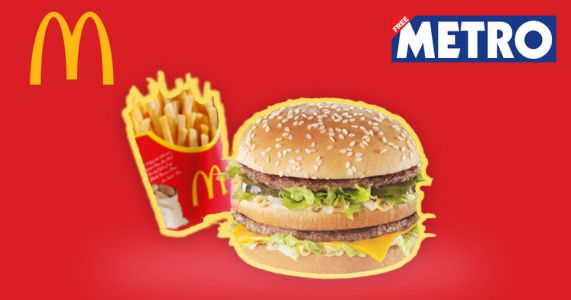 Get a McDonald's meal for 99p with Metro voucher and Eat Out to Help Out hack