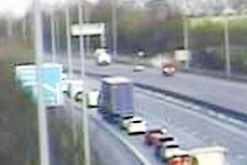 M6 closes in both directions for 4 hours after lorry crashes into bridge