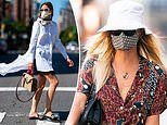 How celebrities wear face masks and look stylish