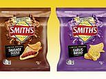 Smith's launches garlic bread and sausage sizzle flavoured chips