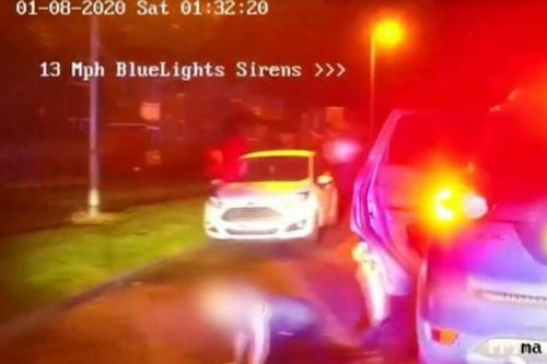 Shock footage shows child tumbling out stolen car during police chase