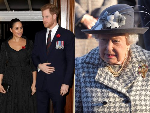 The royal family's outfit choices have changed to reflect the mournful mood of 'Megxit,' according to a fashion expert