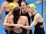 Tokyo Olympics: Moment shows Australia's golden swimming girls of the pool were ready to win gold
