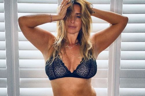Louise Redknapp strips down to lace bra to promote her fashion blog