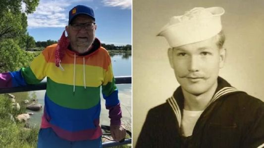 Navy veteran, 90, is inspired to come out as gay by coronavirus and says 'I've never felt so free'