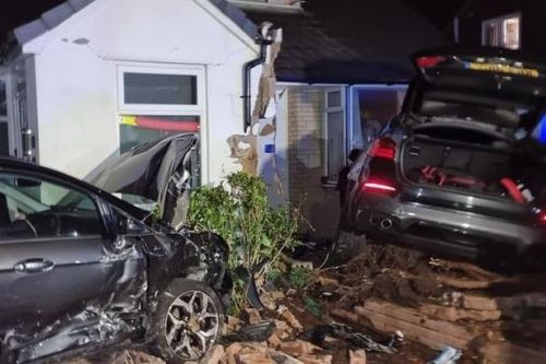 'We though it was an earthquake when car smashed into our front room'