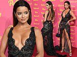 Maura Higgins sends temperatures soaring in a VERY low-cut lace gown at ITV Palooza