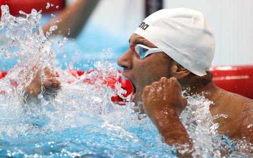 How a Tunisian teenager in lane eight smashed his PB to win gold and stun Olympics swimming