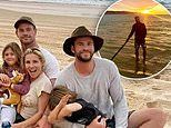 Liam Hemsworth shares photos of hiscamping holiday in Queensland with brother Chris and his family