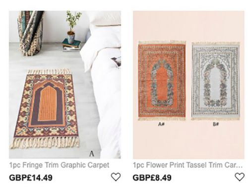 Shein apologises for selling Islamic prayer mats as 'frilled Greek carpets'