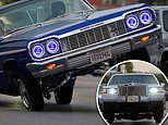 Hundreds of VERY flashy lowrider cars hit Los Angeles streets for 'cruise night'