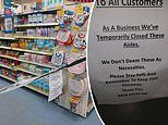 Outraged parents hit out at 'vile' B&M for closing off the baby products aisle
