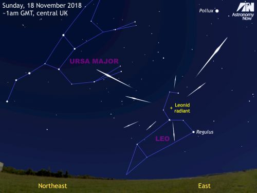 See the Leonid meteor shower peak on 18 November
