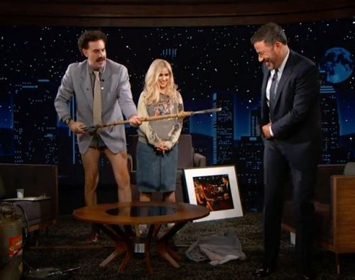 Borat's Interview With Jimmy Kimmel Quickly Went Off The Rails