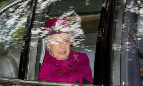 The Queen steps out to church at Balmoral with Prince Andrew and Prince Charles