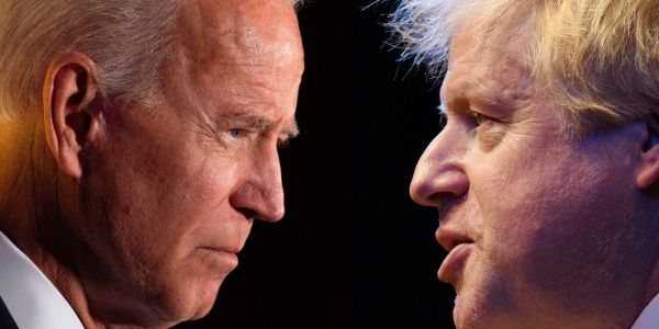 Biden issues Boris Johnson with new Brexit warning, saying the UK's border with Ireland must remain open