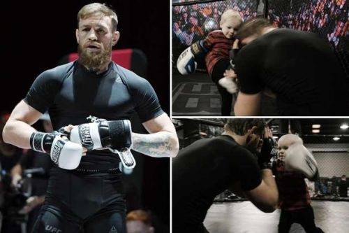 Conor McGregor trains two-year-old son in adorable UFC session