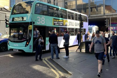 Woman injured after being struck by bus in Glasgow city centre