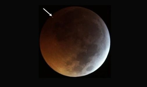 Blood moon shock: Super wolf blood moon smashed by METEORITE - video