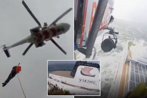 Viking Sky: Moment helpless passengers are airlifted from stricken cruise ship