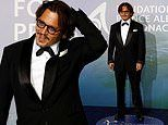 Johnny Depp cuts a dapper figure in a smart black tuxedo at the Planetary Health gala in Monte Carlo