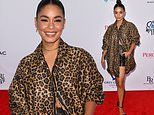 Vanessa Hudgens stuns in leopard at the premiere of Asking For It at Tribeca Film Festival in NYC