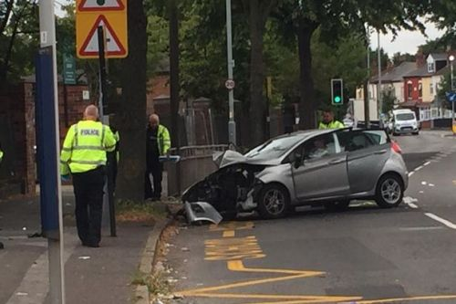 Three children and woman fighting for life after car smashes into tree'