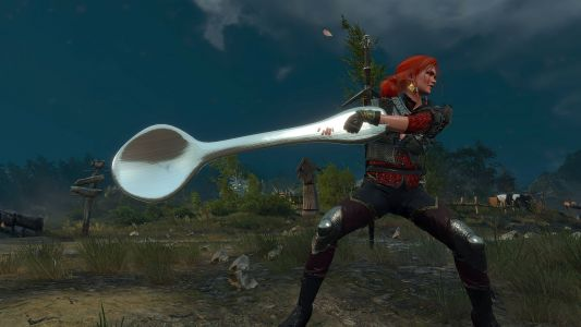 """This The Witcher 3 mod lets you wield a """"comically large spoon"""", and it's amazing"""