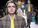 Liam Gallagher's son Lennon takes to the runway for Hermes in London fashion show
