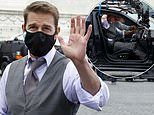 Tom Cruise wears TWO face masks as he greets fans on Mission: Impossible 7 set