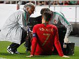 Cristiano Ronaldo forced off injured during Portugal's Euro 2020 qualifier against Serbia