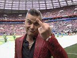 Robbie Williams stuns fans after giving World Cup TV viewers the finger