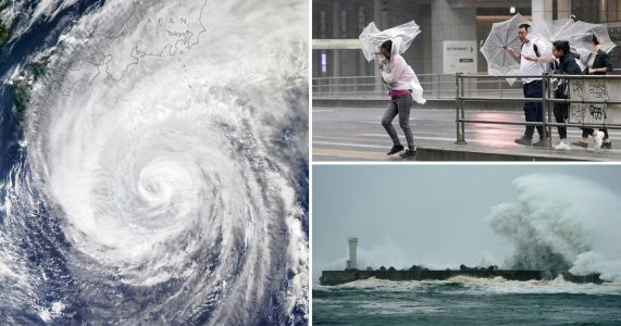 100mph winds approaching Japan as Typhoon Hagibis closes in