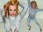 Britney Spears wows as she shows off her dance moves in skintight suit and high heels