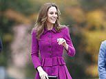 Kate Middleton cut a stylish figure as she opened a £10M children's hospice in Norfolk